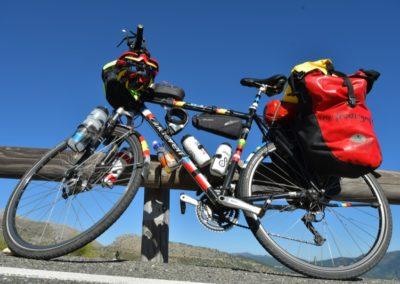 Das Trekkingrad komplett bestückt