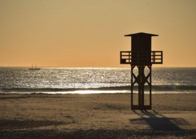 Spanien, Tarifa, Abendstimmung an der Atlantikküste